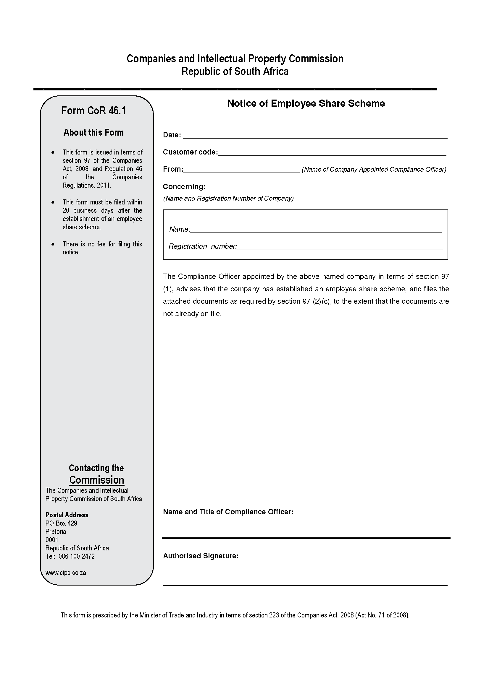 share register template south africa