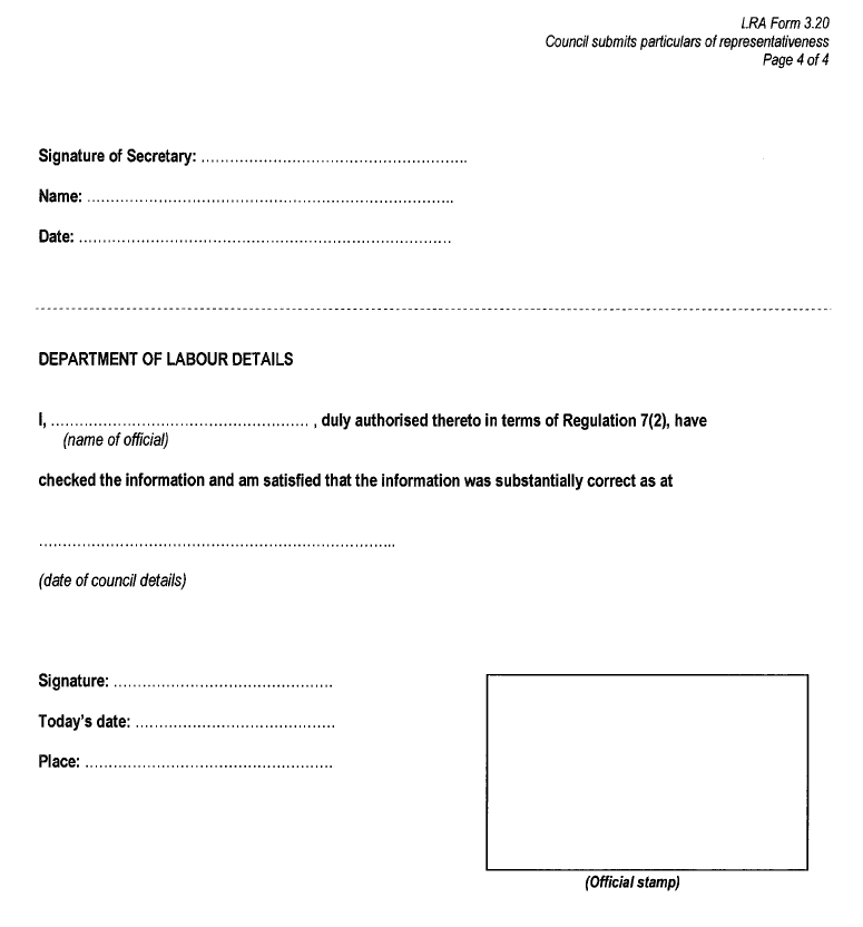 LRA Form 3.20 (Page 4)