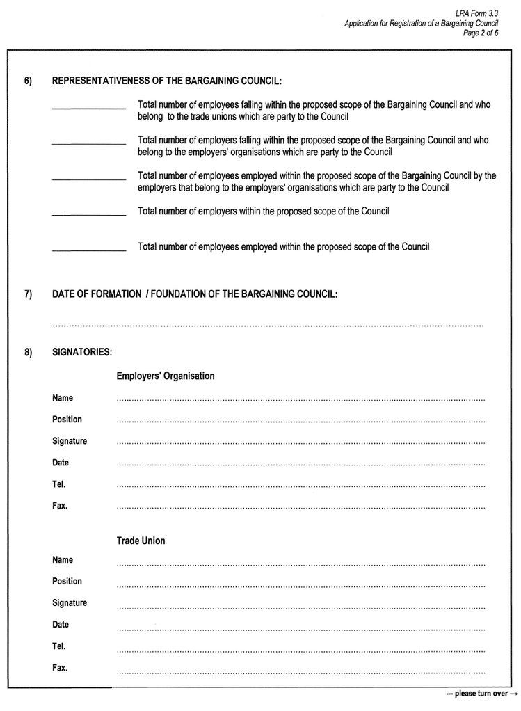 LRA Form 3.3 (page  2)