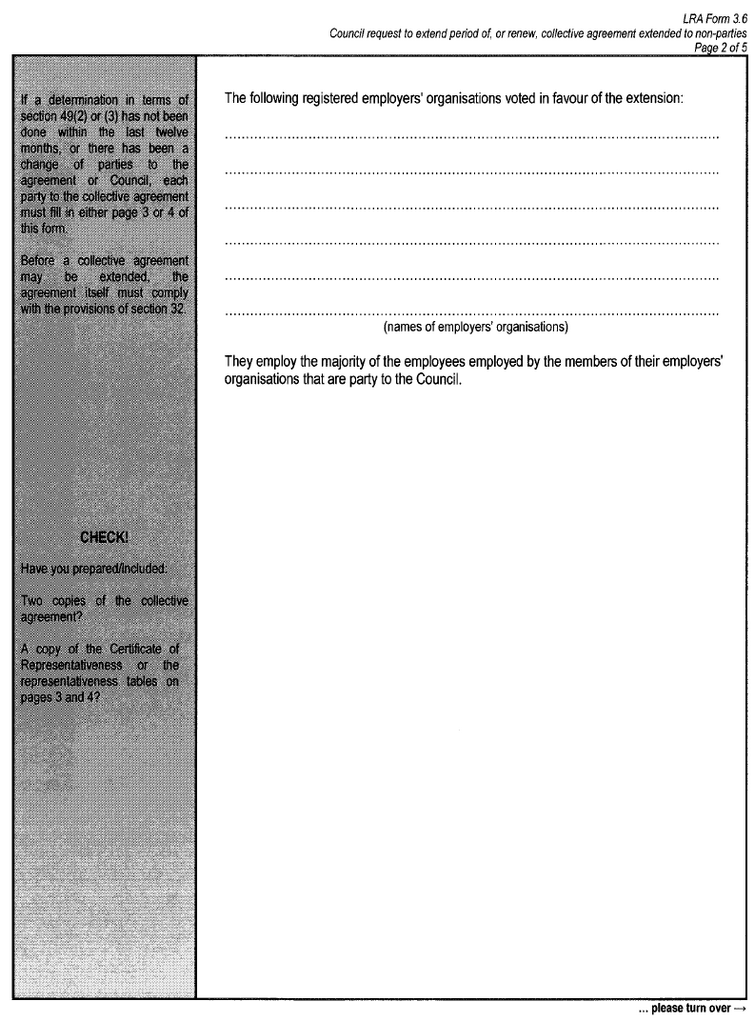 LRA Form 3.6 (page 2)